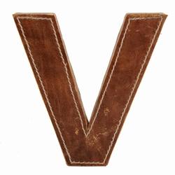 Billede af Læder bogstav - V