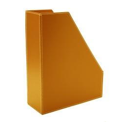 Tidsskriftholder - cognac læder