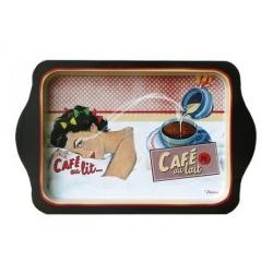 Billede af Metal bakke - Café au lait