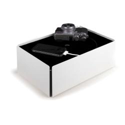 Charge box - hvid/sort filt