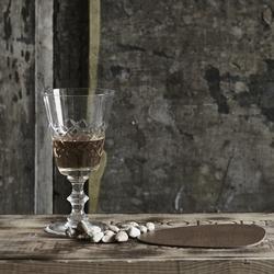 Glasbrikker - brun læder - 4 stk. fra N/A på fenomen