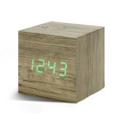 Billede af Vækkeur - Gingko Cube Click Clock ask