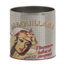 Billede af Metal dåse til make up Femme miroir