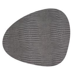 Image of   Dækkeserviet Croco silver-black - large