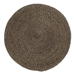 Rund dækkeserviet - mørkbrun