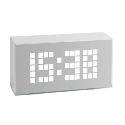 Billede af Digital vækkeur med alarm - hvid