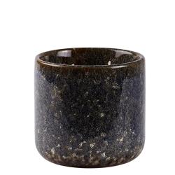 Billede af Duftlys - blå keramik potte