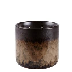 Billede af Duftlys - brun keramik potte