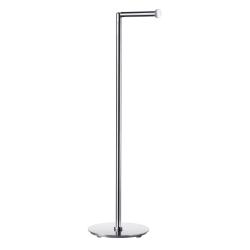 Fritstående toiletrulleholder i blank stål