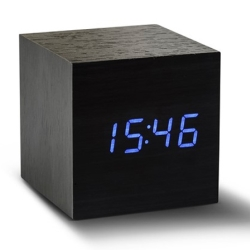 Billede af Vækkeur - Maxi Cube Click Clock sort