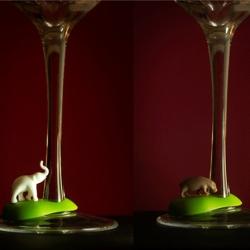 N/A Glas markør - varme dyr på fenomen