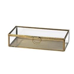 Glasskrin med metalkant - Broste