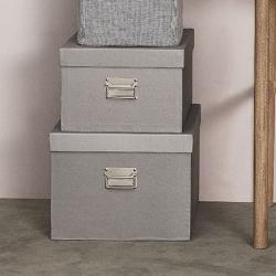Billede af Opbevaringsbokse 3 stk. - grå