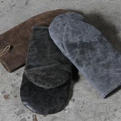 Billede af Grill handske i læder - brun