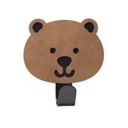 Billede af Læder knage - Bear natur