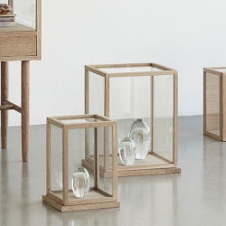 Billede af Glas montre i træ - 2 stk.