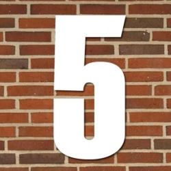 Image of   Hvidt husnummer 70 cm - 5