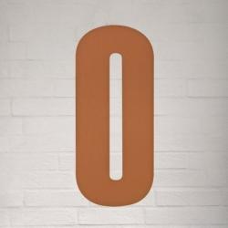 Kobber husnummer 40 cm - 0