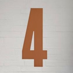 Kobber husnummer 40 cm - 4