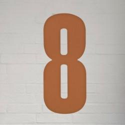 Image of   Kobber husnummer 40 cm - 8