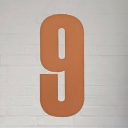 Image of   Kobber husnummer 40 cm - 9