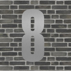 Image of   Sølv husnummer 40 cm - 8