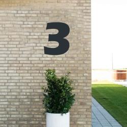 Image of   Sort husnummer 3 - 40 cm