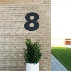 Image of   Sort husnummer 8 - 40 cm