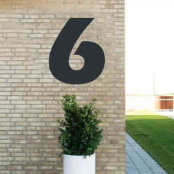 Image of   Sort husnummer 6 - 80 cm
