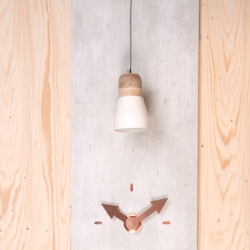 N/A – Pendant bold wood lampe - hvid medium fra fenomen