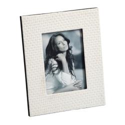 Billede af Lys læder look fotoramme - 15x20 cm