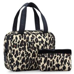 Image of   Leopard dame toilettaske og kosmetikpung