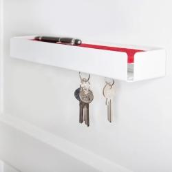 Nøgleholder i hvid metal