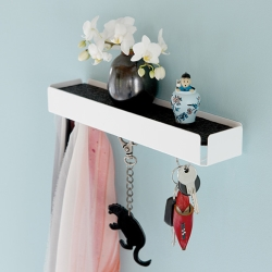 Billede af Key Box nøglerholder - hvid og sort filt