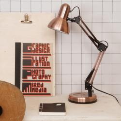 Billede af Hobby bord lampe - kobber