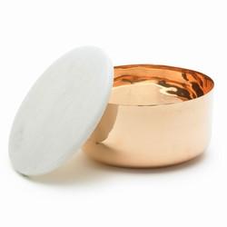 Billede af Kobber skål med marmor låg - small
