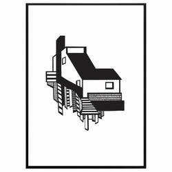 N/A Kristina dam - a house sort/hvid på fenomen