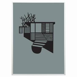 Kristina dam - tree house sort/grøn fra N/A på fenomen