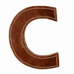 Billede af Læder bogstav - C