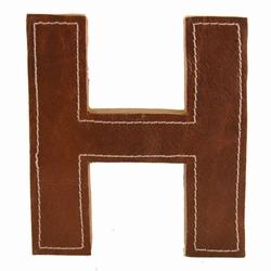 Billede af Læder bogstav - H