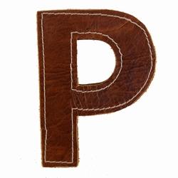 Billede af Læder bogstav - P