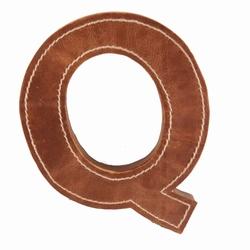 Billede af Læder bogstav - Q