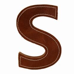 Billede af Læder bogstav - S