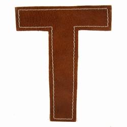 Billede af Læder bogstav - T
