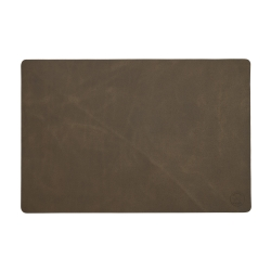 Image of   Læder dækkeserviet Witloft - mørkbrun