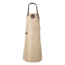 Billede af Læder forklæde i taupe - Witloft