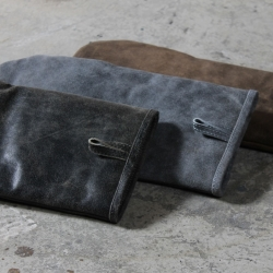 Billede af Grill handske i læder - grå