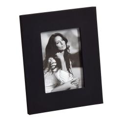 Billede af Sort læder fotoramme - 15x20 cm