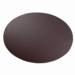Læder dækkeserviet - brun oval