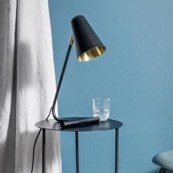 N/A Lampe i sort og messing på fenomen